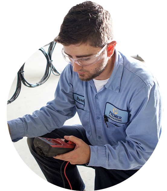 Tech with Electrical Multimeter